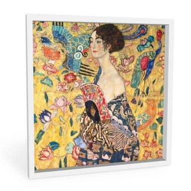Forex print Klimt - Lady with a fan