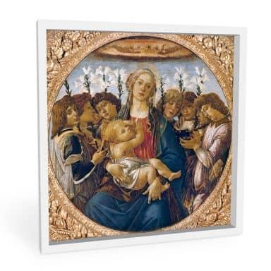Wandbild Botticelli - Maria mit dem Kind und singenden Engeln
