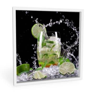 Wandbild Splashing Mojito - quadratisch