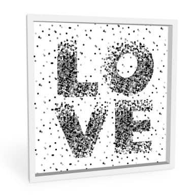 Wandbild Konfetti in Love - quadratisch