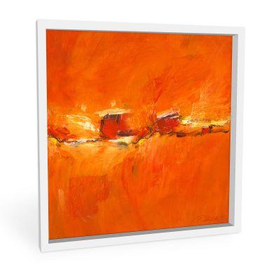 Wandbild Schüßler - Composition in Orange