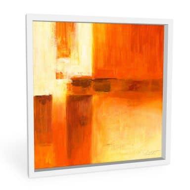 Wandbild Schüßler - Composition in Orange and Brown