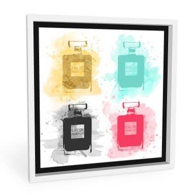 Wandbild Eau de Parfum Aquarell - bunt