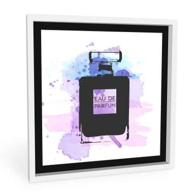 Wandbild Eau de Parfum Aquarell - Grau