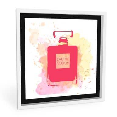 Wandbild Eau de Parfum Aquarell - Pink