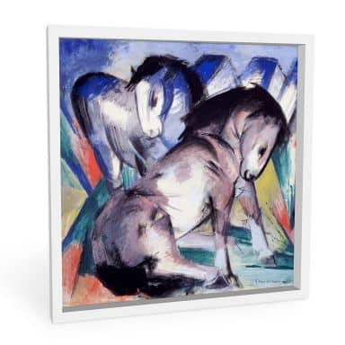 Wandbild Marc - Zwei Pferde - quadratisch