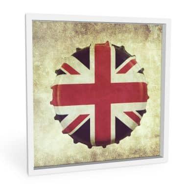 Wandbild Britischer Kronkorken