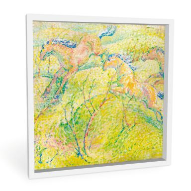 Wandbild Marc - Springende Pferde