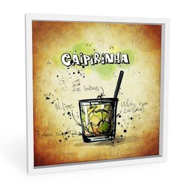 Wandbild Caipirinha - Rezept