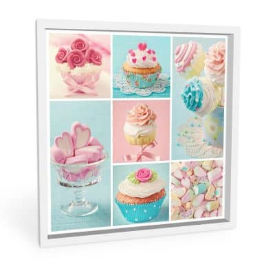 Wandbild Cupcake-Collage - quadratisch