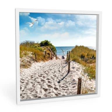 Wandbild Way to the Beach - quadratisch