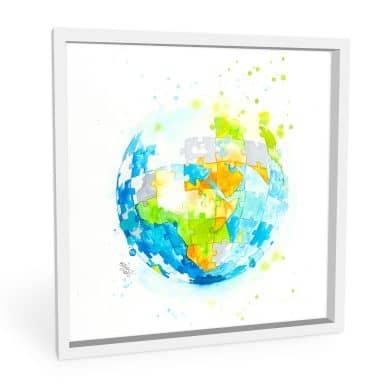 Wandbild Buttafly - Worldpuzzle