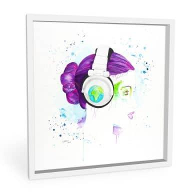Wandbild Buttafly - Listen to the World