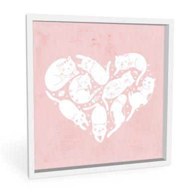 Wandbild Loske - Cat Heart
