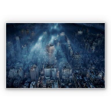 Wandbild Løndal - Nebel in NYC