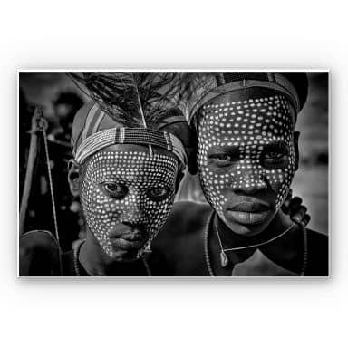 Wandbild Kuesta - Porträt des Abore-Stammes