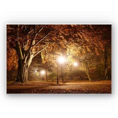 Wandbild Herbst im Park