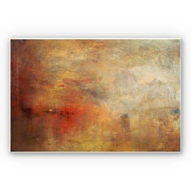 Forex print Turner - Sunset over a lake