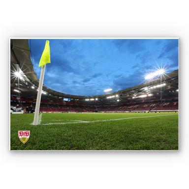Wandbild VfB Stuttgart Arena Nacht