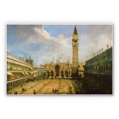 Wandbild Canaletto - Die Piazza San Marco