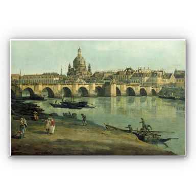 Forex print Canaletto - Dresden from the right bank of the Elb
