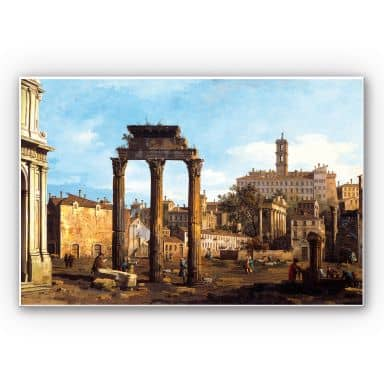 Wandbild Canaletto - Forum mit Tempel von Kastor und Pollux