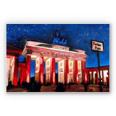 Forex print Bleichner - Berlin under a starry sky