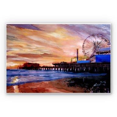 Wandbild Bleichner - Santa Monica Pier