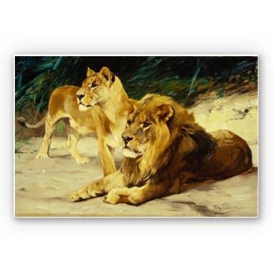 Wandbild Kuhnert - Löwenpaar