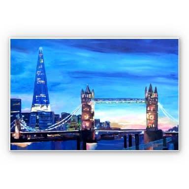 Wandbild Bleichner - London Tower Bridge und The Shard