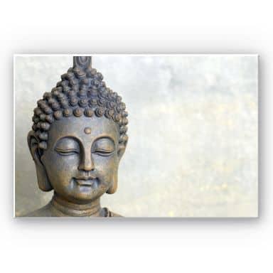 Wandbild Buddha Gesicht