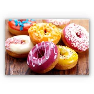 Wandbild Zuckersüße Donuts