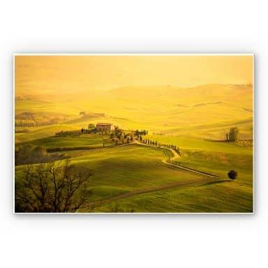 Wandbild Weitblick in der Toskana