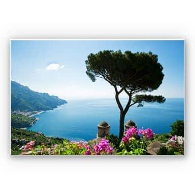 Wandbild Blick auf die Amalfiküste