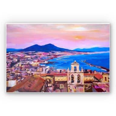 Wandbild Bleichner - Naples with Mount Vesuvio