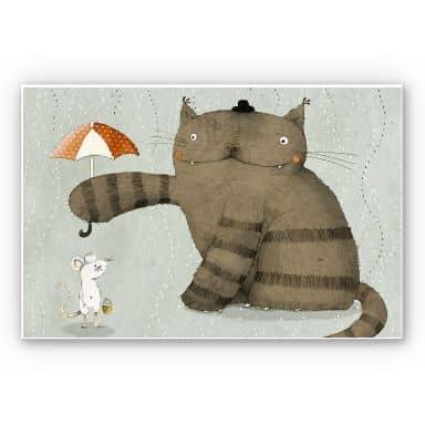 Wandbild Loske - Regenschirm