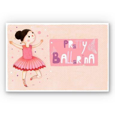 Wandbild Loske - Pretty Ballerina