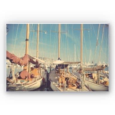 Wandbild Segelschiffe im Hafen