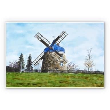 Wandbild Toetzke - Traditionelle Windmühle
