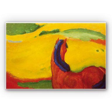 Wandbild Marc - Pferd in der Landschaft