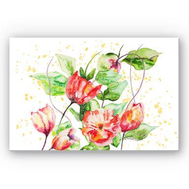Wandbild Toetzke - Gartenblumen
