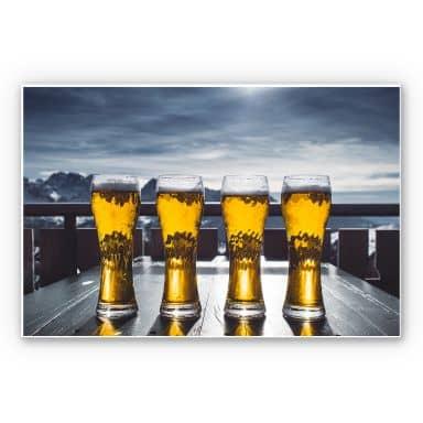 Wandbild Eiskaltes Bier