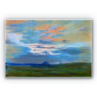 Wandbild Delacroix - Himmelsstudie bei Sonnenuntergang