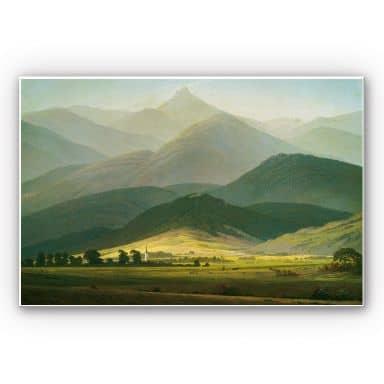 Wandbild Friedrich - Berglandschaft