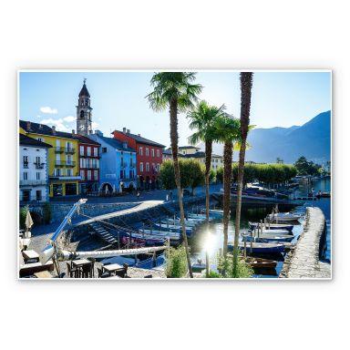 Wandbild Hafen am Lago Maggiore