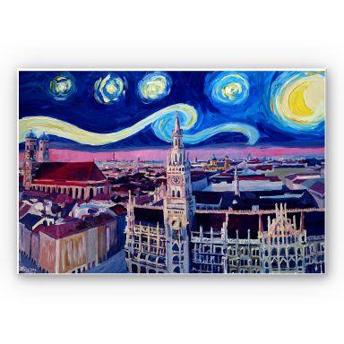 Wandbild Bleichner - München bei Nacht