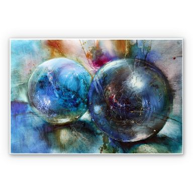 Wandbild Schmucker - Blaue Murmeln