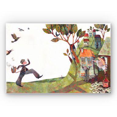 Wandbild Blanz - Der Briefträger