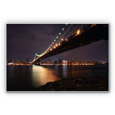 Forex print Manhattan Bridge at Night