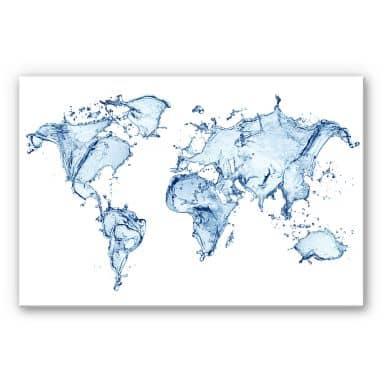 Wandbild Splashing Worldmap